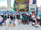 Comunidades de Guarujá recebem doações de alimentos de alunos da Unoeste