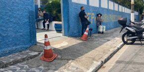 2º turno: Cuidado com o 'tropicão' na E.E. Profª Maria Pacheco Nobre, em Praia Grande