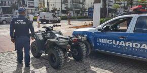 Guarda Municipal faz 117 abordagens e aplica 15 multas em Santos