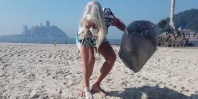 Mutirão Ecomar recolhe mais de 150 quilos de micro lixo na faixa de areia em São Vicente