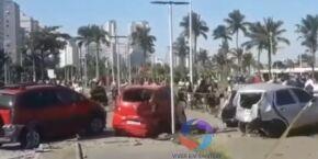 Carro descontrolado bate em outros 5 no Itararé, em São Vicente, na tarde desse domingo