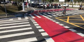 Guarujá revitaliza sinalização viária da entrada da Cidade
