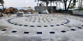 Revitalização da Praça dos Expedicionários, em Guarujá, entra em fase final
