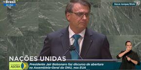 Na ONU, Bolsonaro discursa para base radical e mente sobre queimadas na Amazônia