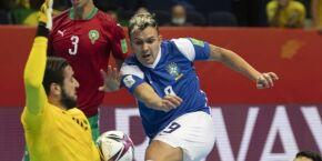 Futsal: Em partida sofrida, Brasil vence Marrocos por 1 a 0 e avança à semifinal