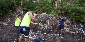 Em Praia Grande, mais de 183 toneladas de lixo são recolhidas durante mutirão
