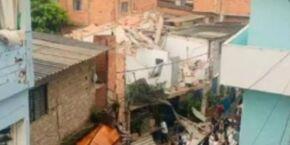 Desespero: Sobrado desaba, mata um e deixa 4 da mesma família feridos