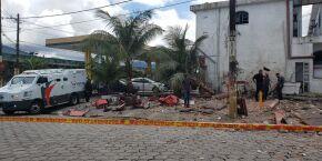 Criminosos explodem caixa eletrônico em São Vicente; assista ao vídeo