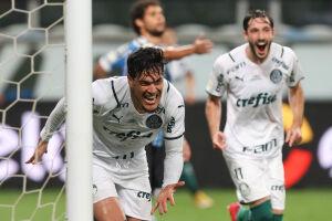 Gustavo Gómez fez o gol da vitória do Palmeiras sobre o Grêmio