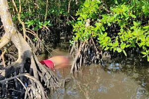 O corpo da vítima foi encontrado em uma pequena ilha, em meio à vegetação