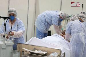 Diminuiu para 39 o número de internados nos leitos de UTI, voltados para os casos mais graves