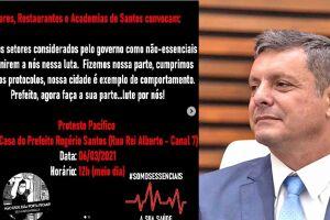 Prefeito Rogério Santos deverá ser alvo de protestos durante este sábado