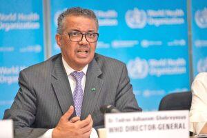 O diretor-geral da OMS, Tedros Adhanom Ghebreyesus, classificou a situação como muito grave