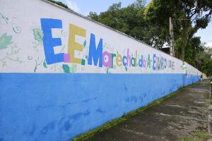 Escola Estadual Marechal do Ar Eduardo Gomes fica ao lado da Base Aérea, em Vicente de Carvalho