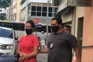 Mulher foi detida em Copacabana por autoridades policiais após denúncia feita por empresário