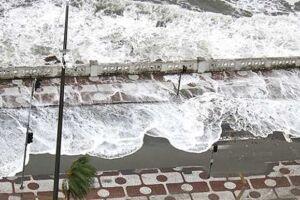 De acordo com o Plano Municipal de Contingência para Ressacas e Inundações de Santos, o estado é de atenção.