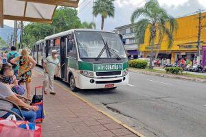 Reportagem constatou que para cada ônibus da Fênix passavam três de autônomos na Avenida Nove de Abril, mais movimentada da Cidade