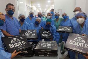 A campanha funciona toda terça-feira e a cada cinco pizzas vendidas uma vai para a Santa Casa