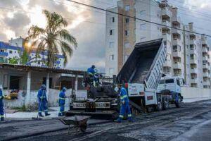 A Prefeitura de Bertioga está com frentes de obras por toda a cidade.
