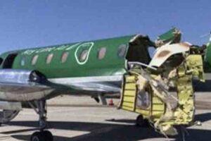 Segundo o jornal CBS Denver, a colisão ocorreu ao norte do Aeroporto Centennial.