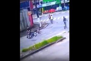 Adolescente quebrou a perna no acidente