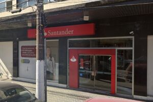 Agência Bancária na Vila Mathias, em Santos, foi alvo de tentativa de furto