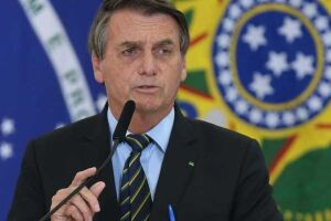 """Em um discurso a empresário do agronegócio, o presidente Jair Bolsonaro (sem partido) criticou o que chamou de """"terrorismo no campo""""."""