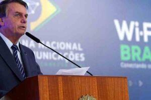 Em discurso hoje (5) em cerimônia no Palácio do Planalto, o presidente Jair Bolsonaro falou sobre as manifestações ocorridas no 1º de maio.