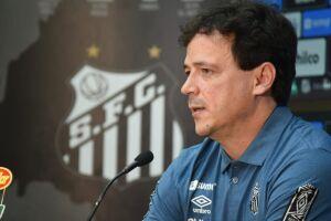 O técnico Fernando Diniz disse, ao ser apresentado pelo Santos, nesta segunda, ver um elenco forte à sua disposição