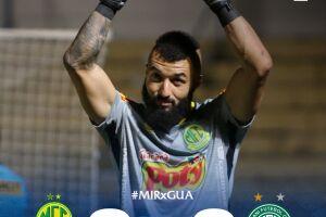 o goleiro Alex Muralha, ex-Flamengo, defendeu duas cobranças e o Mirassol venceu a disputa por 4 a 3