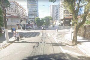 O assaltante foi atropelado na esquina das ruas Tocantins e Suplicy
