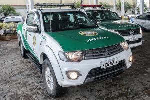 A Guarda Ambiental de Praia Grande estava em patrulhamento pelo bairro Ribeirópolis