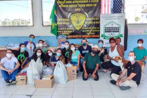Ao todo, foram arrecadados 545 quilos de alimentos em três diferentes pontos de coleta nas cidades de Guarujá e Santos
