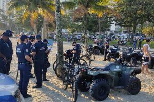 Duas pessoas foram multadas por não estarem usando máscara em Santos