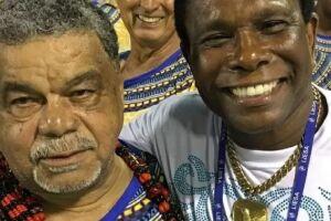 Laíla (à direita) e Neguinho da Beija-Flor (à esquerda).
