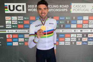 O paraciclista Lauro Chaman.