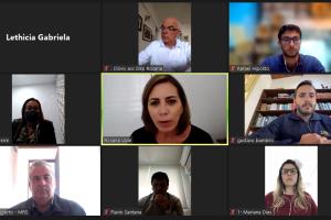Rosana Valle fez o pedido de geração de empregos locais diretamente aos executivos da MRS, em reunião virtual nesta manhã
