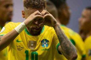 Neymar marcou um dos gols.