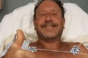 Michael Packard conta que estava mergulhando quando acabou dentro da boca do gigante marinho na costa de Provincetown, em Massachusetts.