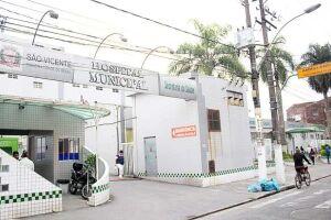 Após ser atropelado, idoso foi encaminhado ao Hospital Municipal de São Vicente