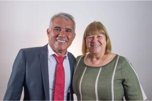 Reco e Raquel venceram pleito em 2020 e foram eleitos para o Executivo de Praia Grande
