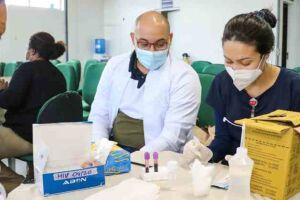 A capacitação foi promovida por profissionais do Serviço de Assistência Especializada (SAE), em parceria com o programa IST/HIV/AIDS de Itanhaém.