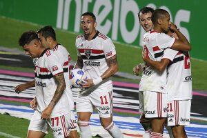 O São Paulo goleou pela Copa do Brasil