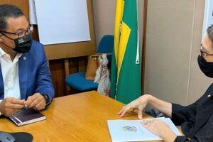 Rosana se reuniu nesta quinta-feira (10/6), em Brasília, com o Secretário Nacional do Patrimônio da União (SPU), coronel Mauro Filho.