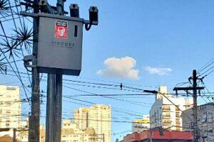 O procurado passou por série de radares em Santos com seu carro