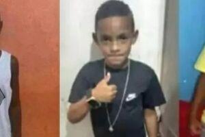 Lucas Matheus da Silva, 8, Alexandre da Silva, 10, e Fernando Henrique Ribeiro Soares, 11.