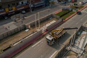 Em virtude das obras do Portal de Bertioga, na próxima quarta (01) haverá interdição total da Avenida 19 de Maio