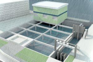 A estação elevatória será construída em parte do mangue que já foi aterrada com recursos de empréstimo do Banco Mundial
