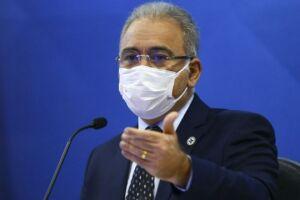O ministro da Saúde, Marcelo Queiroga, testoupositivo para Covid-19 nesta terça-feira