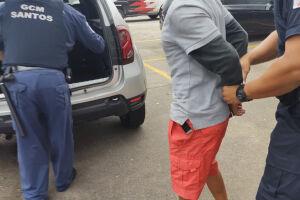 Homem é preso por agredir mulher e embriaguez ao volante em Santos